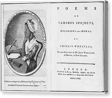 Phillis Wheatley, African-american Poet Canvas Print