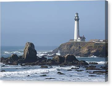 Canvas Print featuring the photograph Pigeon Point Lighthouse by Mike Irwin