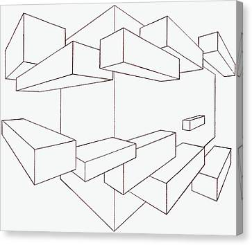 2-point Perspective Drawing Canvas Print by Gregory Dean