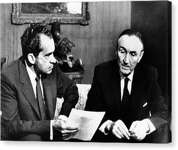 President Richard Nixon Meets Canvas Print by Everett