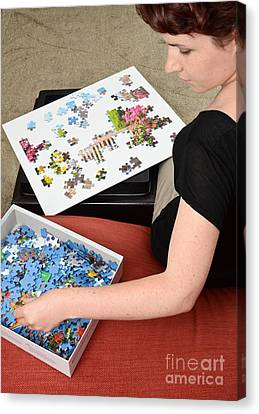 Puzzle Therapy Canvas Print by Photo Researchers, Inc.