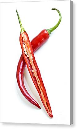 Red Hot Chili Peppers Canvas Print by Elena Elisseeva