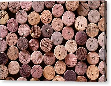 Wine Art Canvas Print - Red Wine Corks by Frank Tschakert