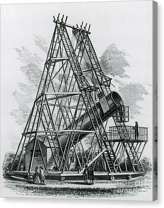 Reflecting Telescope, 1789 Canvas Print by Science Source