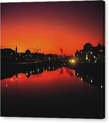River Liffey, Dublin, Co Dublin, Ireland Canvas Print by The Irish Image Collection
