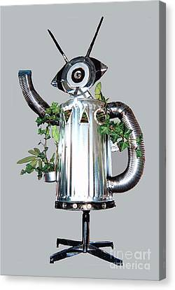 Robocan Canvas Print by Bill Thomson
