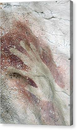 Rock Painting, Timor-leste Canvas Print by Louise Murray
