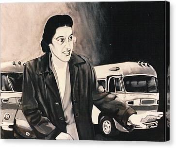 Rosa Parks Canvas Print by Howard Stroman