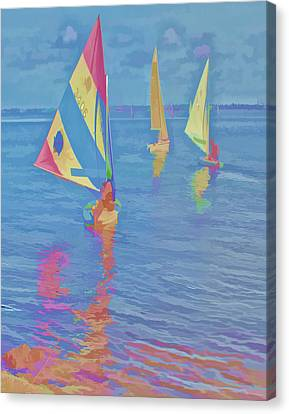 Sailing The Blue Canvas Print