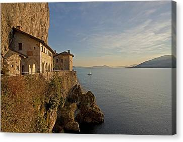 Winter Light Canvas Print - Santa Catarina Del Sasso by Joana Kruse