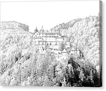Schloss Hohenwerfen Werfen Austria Canvas Print