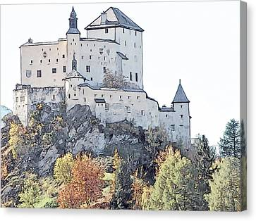 Schloss Tarasp Switzerland Canvas Print