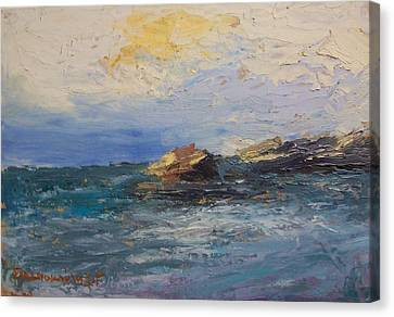 Sea Rocks Canvas Print by George Siaba