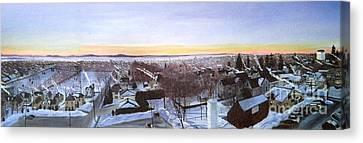 Sentinels At Dawn Canvas Print by Stella Sherman