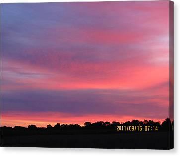 September 16 Sunrise Canvas Print by Tina M Wenger