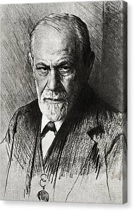 Sigmund Freud, Austrian Psychologist Canvas Print by Humanities & Social Sciences Librarynew York Public Library