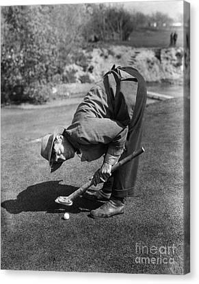 Silent Film Still: Golf Canvas Print by Granger