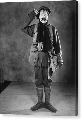 Silent Film Still: Uniforms Canvas Print by Granger