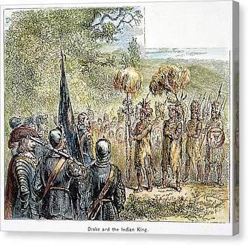 Sir Francis Drake Canvas Print by Granger