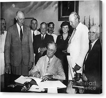 Social Security Act, 1935 Canvas Print by Granger