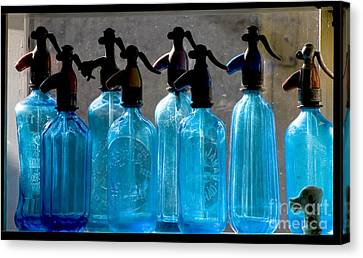 Soda Bottles Canvas Print by Odon Czintos