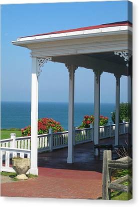Spring House Porch  Canvas Print by Rose Pasquarelli