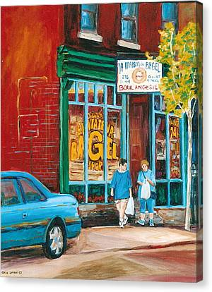 St.viateur Bagel Canvas Print - St. Viateur Bagel Shop by Carole Spandau