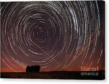 Star Trail In Alentejo Canvas Print
