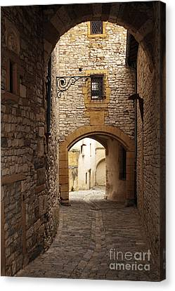 street in Chazay-d'Azergues   Canvas Print