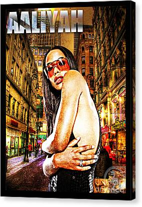 Street Phenomenon Aaliyah Canvas Print by The DigArtisT