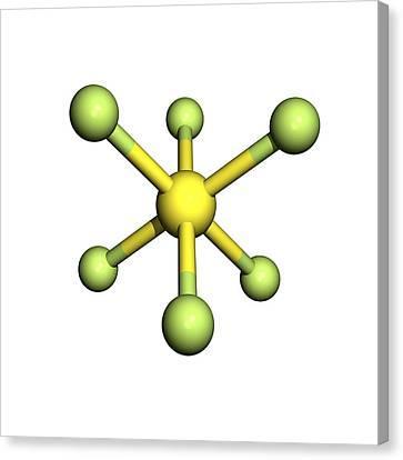 Sulphur Hexafluoride Molecule Canvas Print by Friedrich Saurer