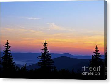 Williams River Canvas Print - Summer Solstice Sunrise by Thomas R Fletcher
