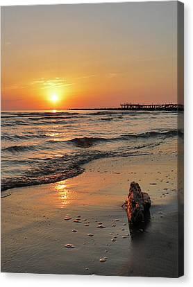 Sunset At Sea Coast Canvas Print