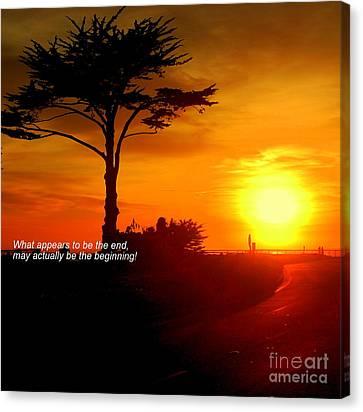 Sunset In Santa Cruz Canvas Print