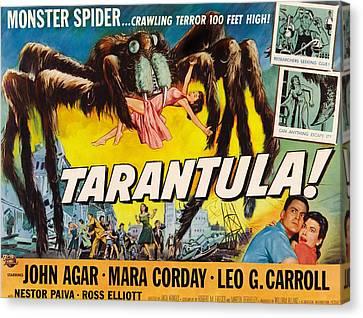 Tarantula, John Agar, Mara Corday, 1955 Canvas Print