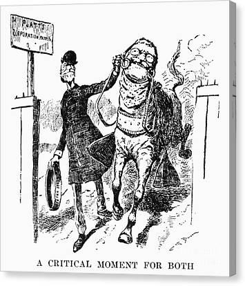 Collier Canvas Print - Teddy Roosevelt Cartoon by Granger
