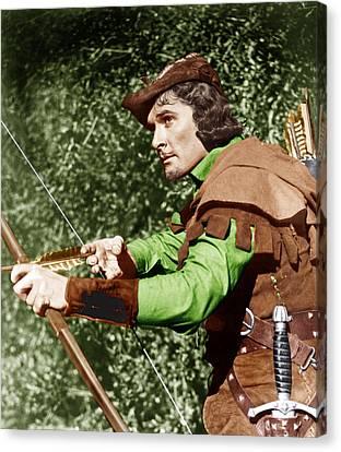 The Adventures Of Robin Hood, Errol Canvas Print by Everett