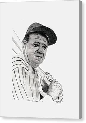 Boston Red Sox Canvas Print - The Bambino by Bob and Carol Garrison