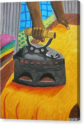 The Dhobi's Iron  Canvas Print by Adam Wai Hou