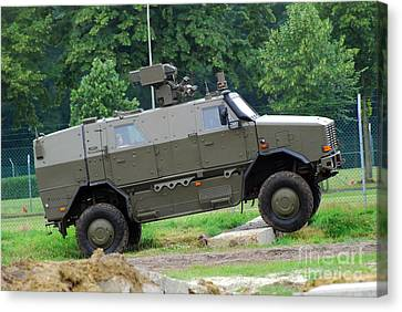 The Dingo 2 Mppv Of The Belgian Army Canvas Print by Luc De Jaeger