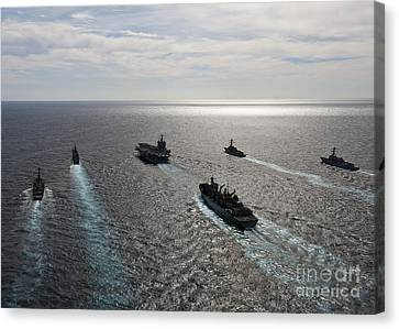 The Enterprise Carrier Strike Group Canvas Print by Stocktrek Images