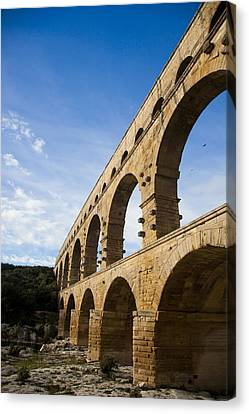 The Famous Pont Du Gare In France Canvas Print by Taylor S. Kennedy
