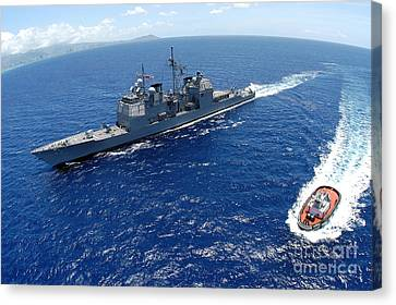 The Guided-missile Cruiser Uss Canvas Print