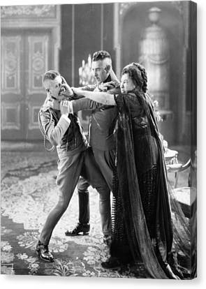 Fistfight Canvas Print - The Merry Widow, 1925 by Granger