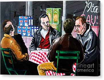 The Sit Down Canvas Print