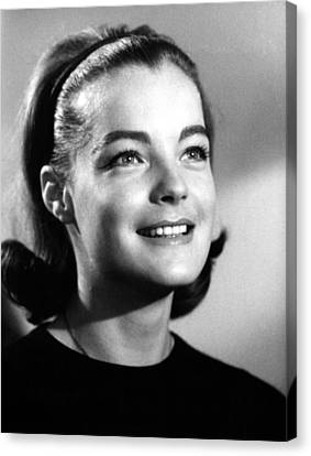 1963 Movies Canvas Print - The Victors, Romy Schneider, 1963 by Everett