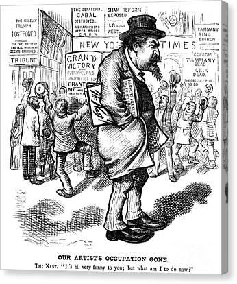 Cartoonist Canvas Print - Thomas Nast (1840-1902) by Granger