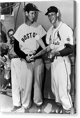 Top Sluggers. Ted Williams Canvas Print by Everett