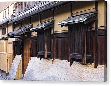 Traditional Japanese House Canvas Print by Jeremy Woodhouse
