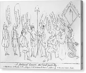`treaty Of Paris, 1783 Canvas Print by Granger